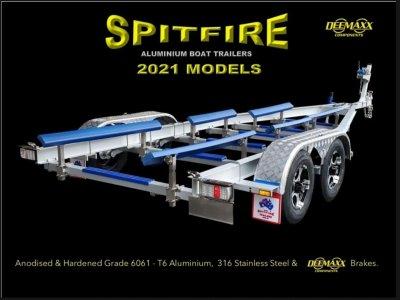 SPITFIRE Aluminium Trailer for boats 7m - 7.5m, 3.5ton