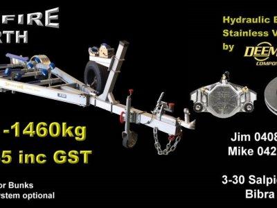 1460kg SPITFIRE ALUMINIUM TRAILER SUITS BOATS 5.2m - 5.8m