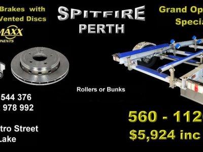 1120kg SPITFIRE ALUMINIUM TRAILER SUITS BOATS 4.6m - 5.1m