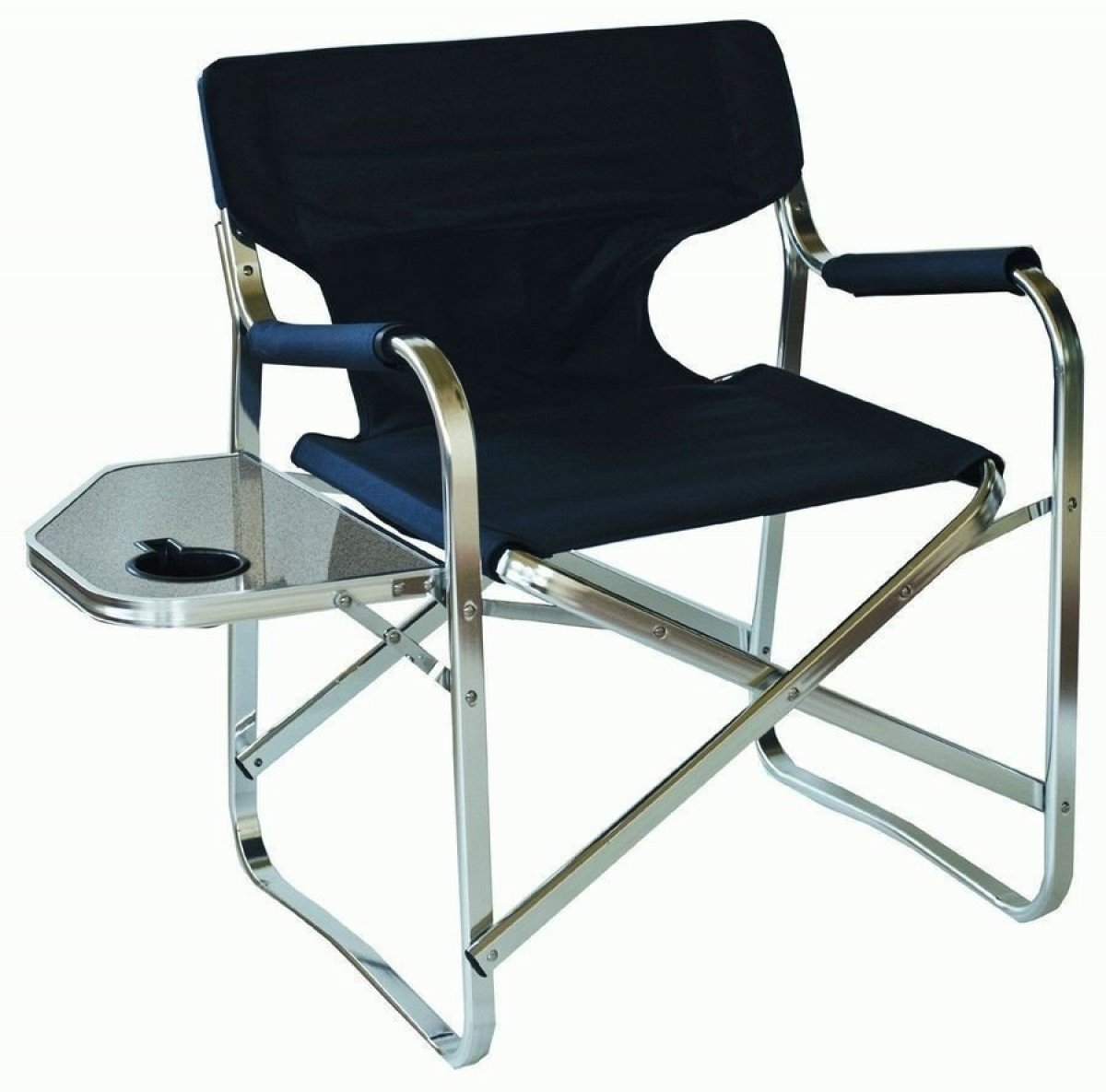 Supex aluminium Directors chair- with foldaway drink table