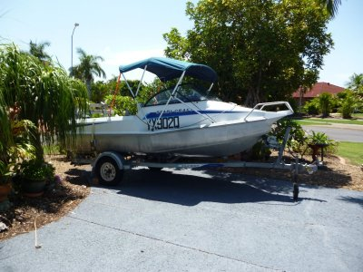 Stabicraft 459 Fisher with 40hp etec motor on dunbier trailer