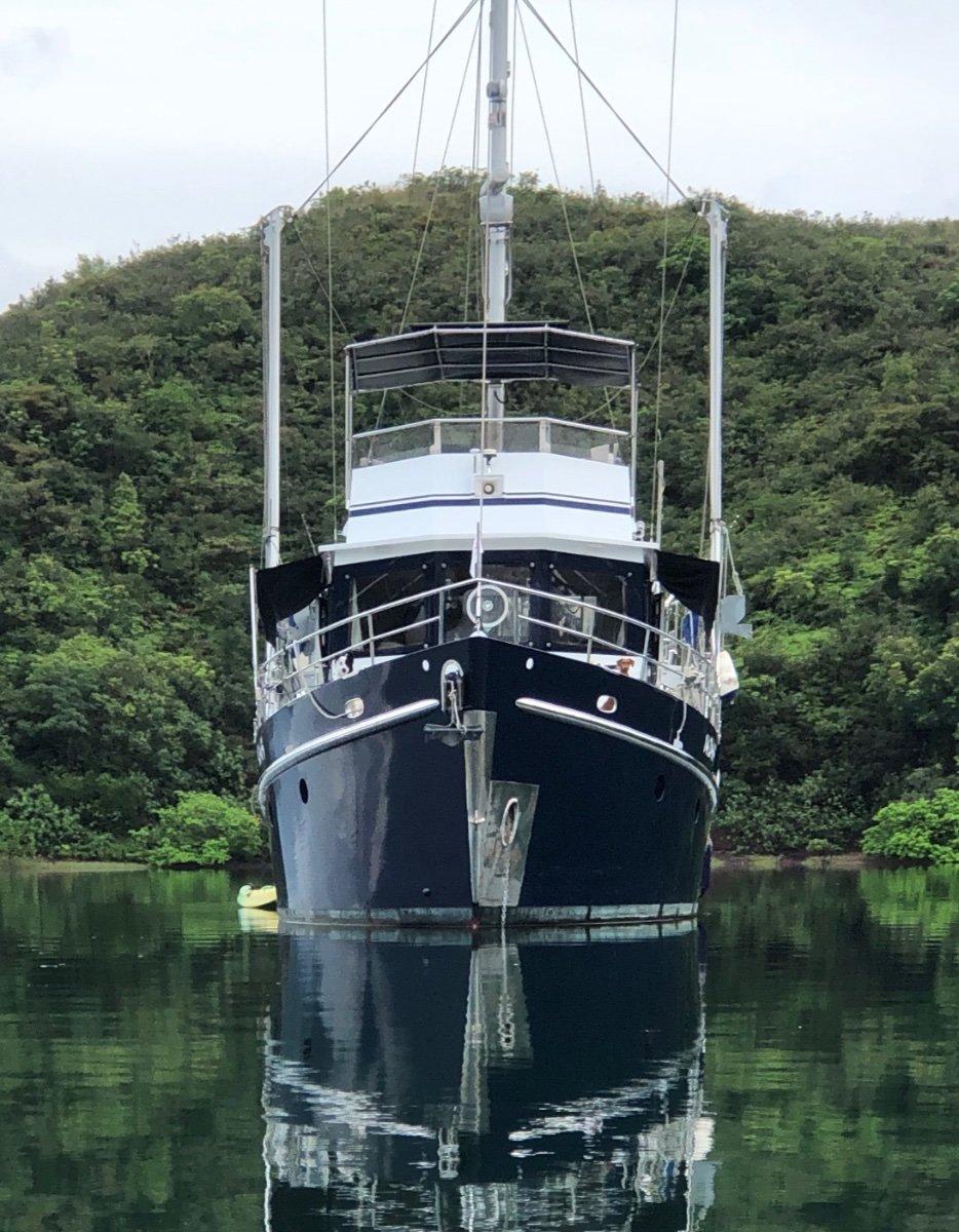 Seahorse Diesel Duck Sedan 462:Bow profile