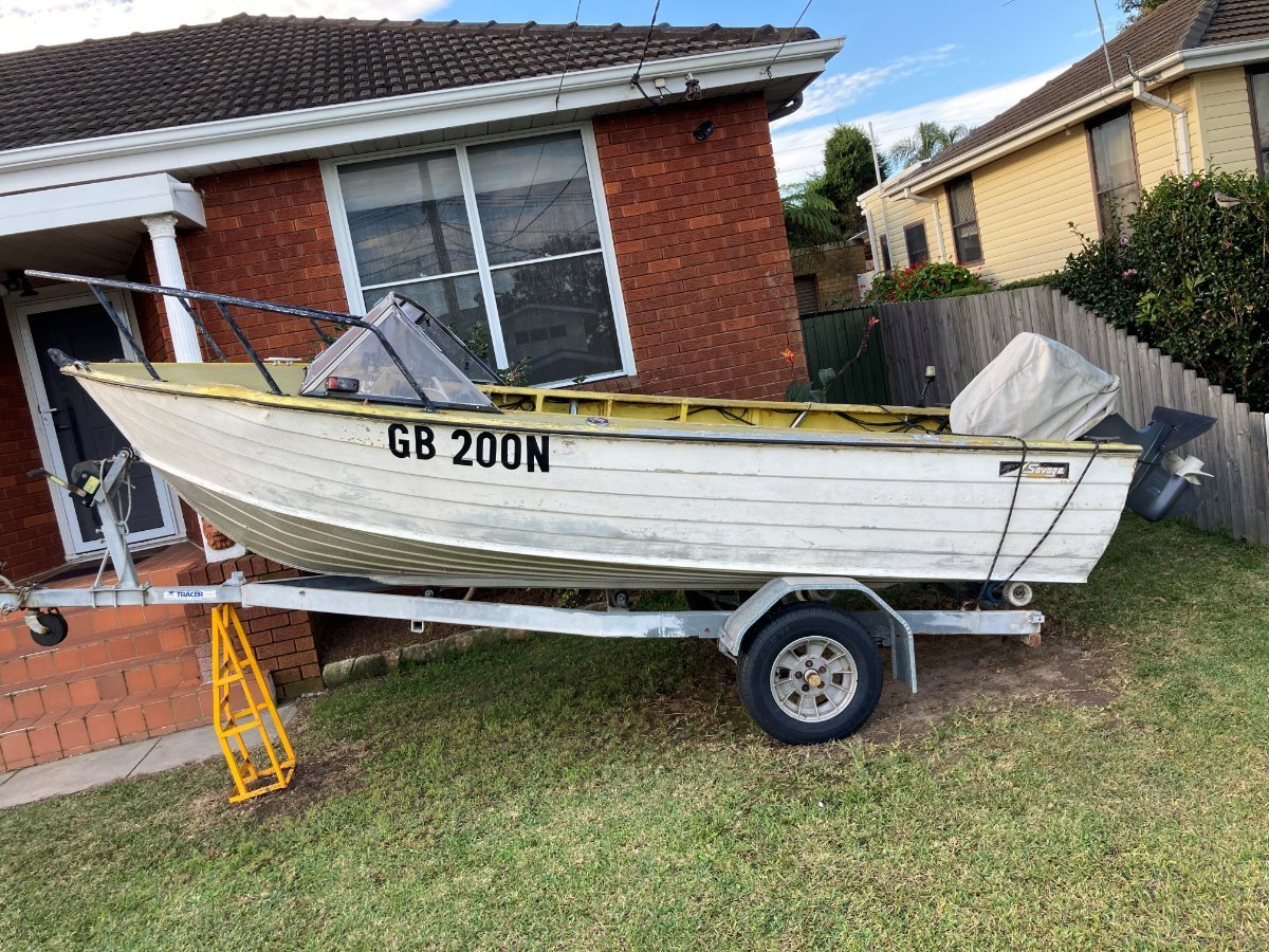 Savage Runabout 16.5 ft Tinny Yamaha 55 hp Trailer Rego boat Swap