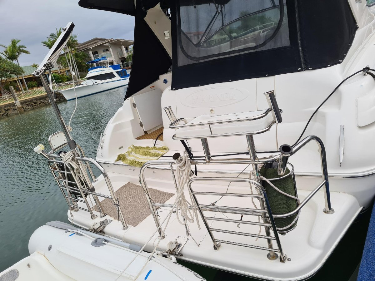 Sainless Steel Transom Hand Rail and boading rail:Fender holders and Crane not included