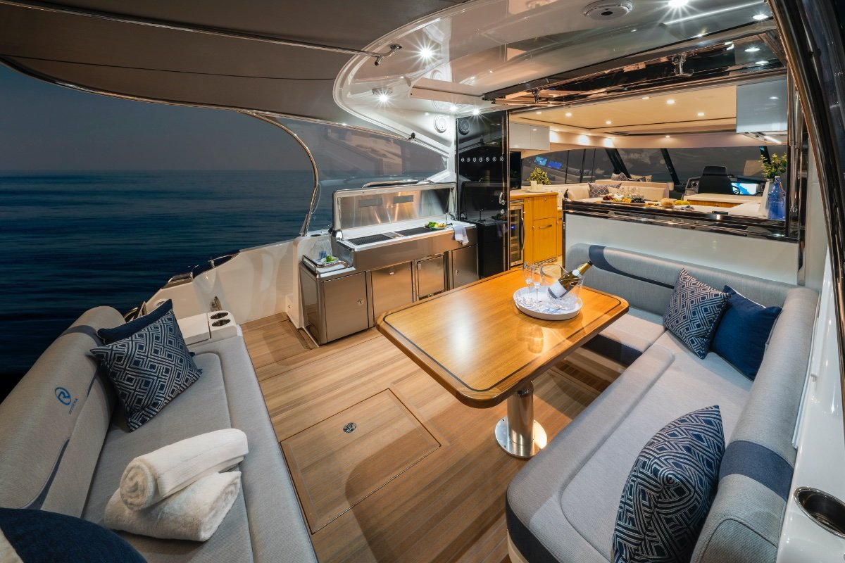 Riviera 5400 Sport Yacht Platinum Edition AVAILABLE FOR DELIVERY SOON:Cockpit