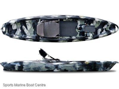 Big Fish 120 Kayak with Beaver Tail Rudder System by 3 Waters Kayaks