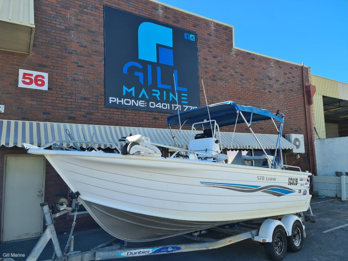 Quintrex 570 Legend POWERED BY YAMAHA 4 STROKE OUTBOARD!