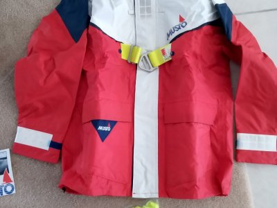 MUSTO Off Shore Jacket complete with integrated Safety Harness