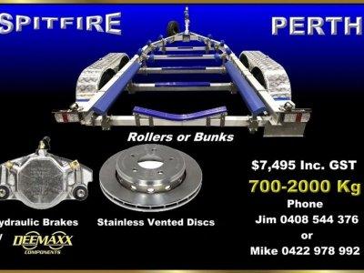 2T SPITFIRE ALUMINIUM TRAILER SUITS BOATS 5.8m - 6.5m