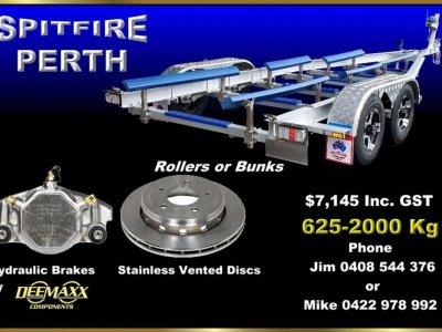 2T SPITFIRE ALUMINIUM TRAILER SUITS BOATS 5.2m - 5.8m