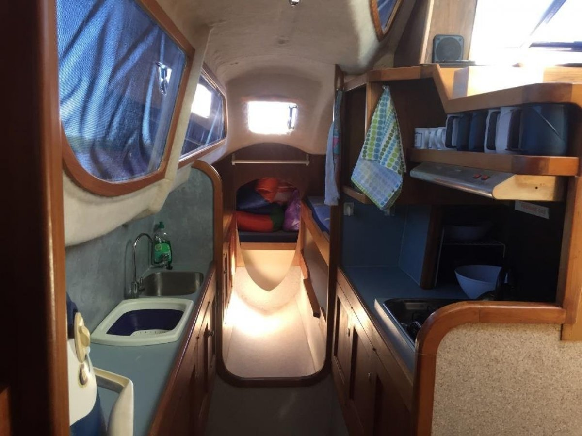 Fastback 33E Built as a 33' and extended transoms to 35'