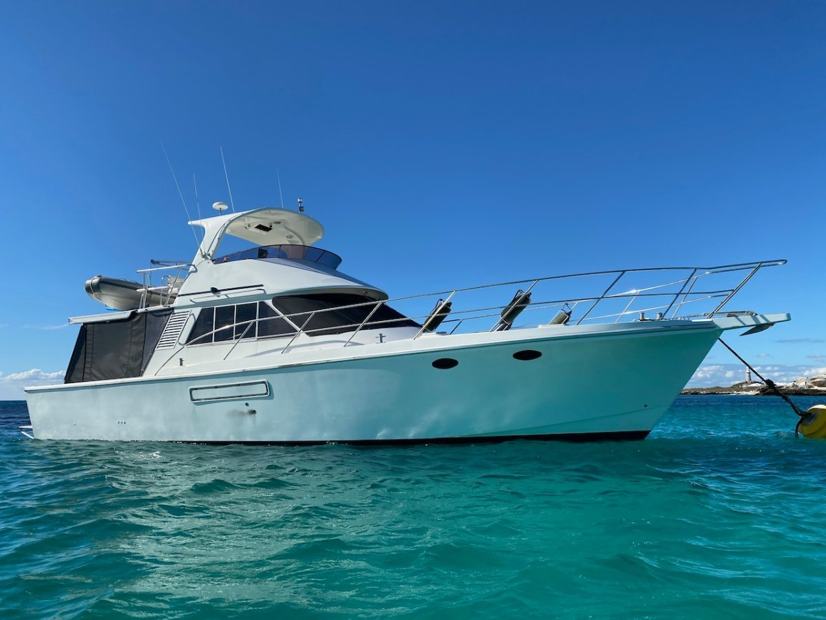"""Precision 50 Flybridge Convertible """""""" VERY NEAT VESSEL """""""":PRECISION 50 by YACHTS WEST MARINE ph 9335 7788"""