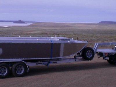 Plate Alloy Australia 8m Custom Punt, Trailerable Houseboat, Diesel Ele