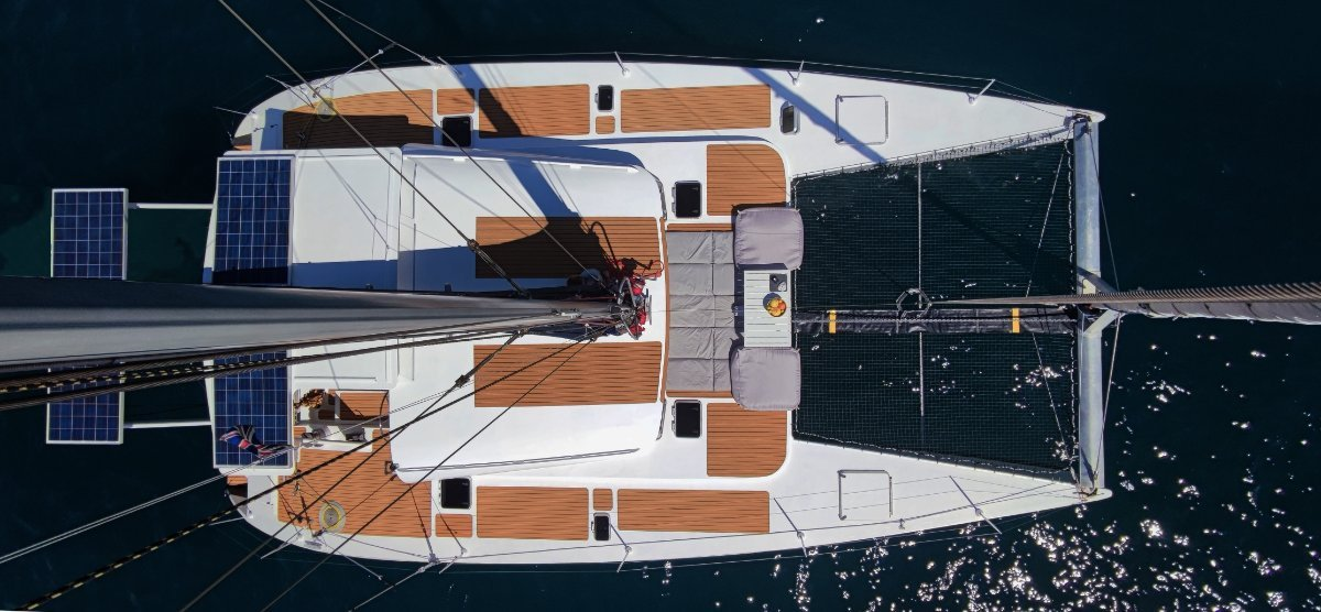 Catamaran WX-1 for sale 45ft - 2012 - French Polyn:Aereal view
