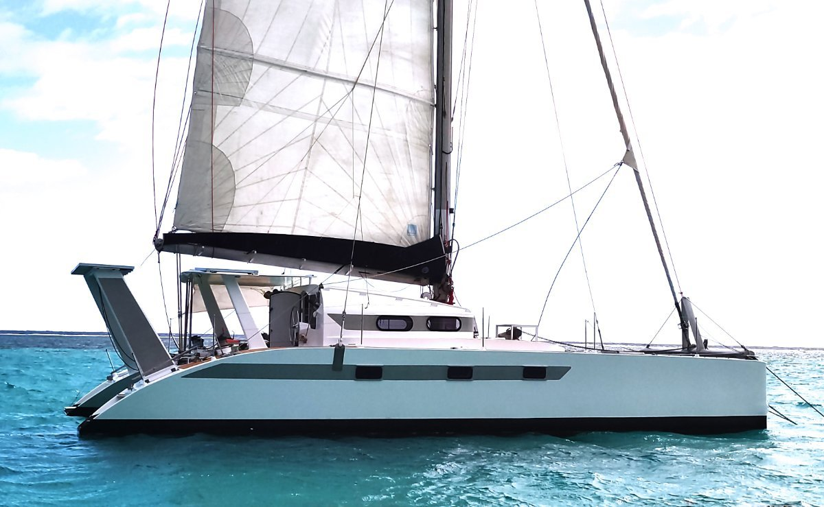 Catamaran WX-1 for sale 45ft - 2012 - French Polyn:Side view starboard