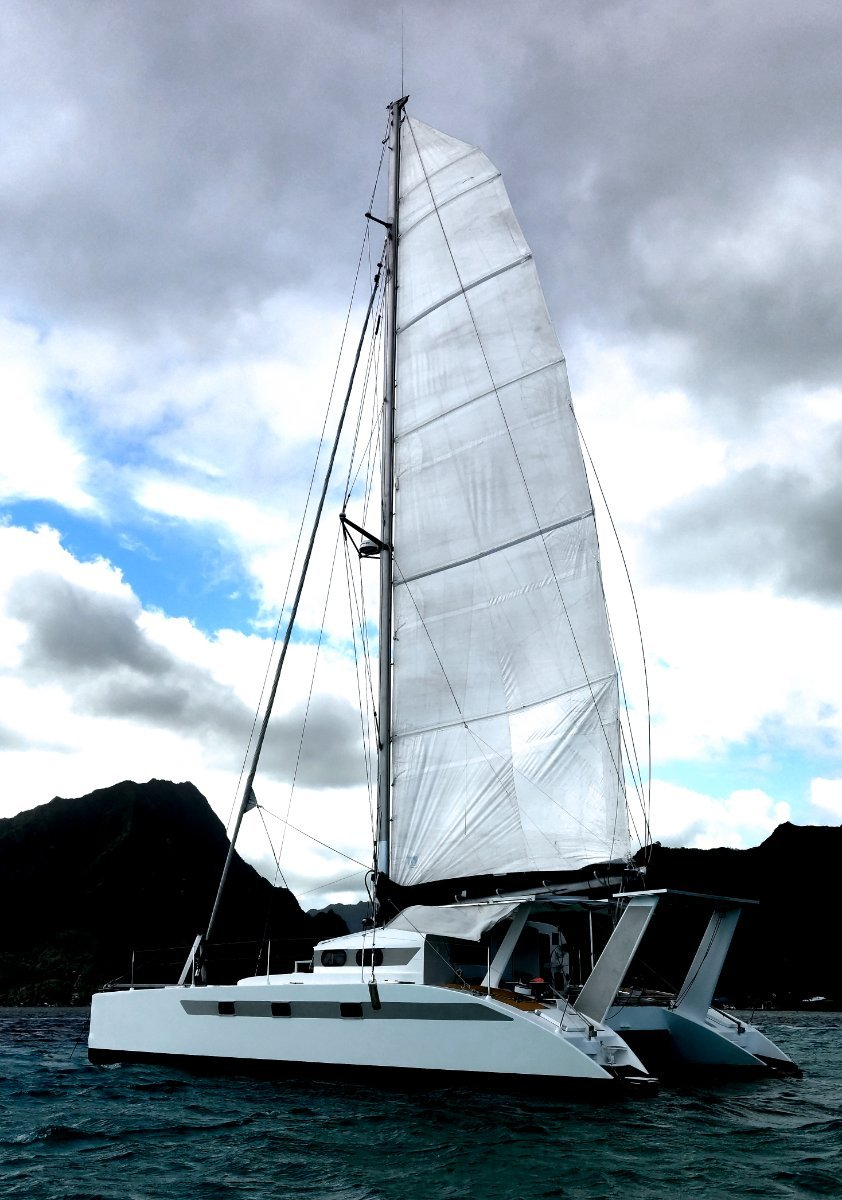 Catamaran WX-1 for sale 45ft - 2012 - French Polyn:Side view port