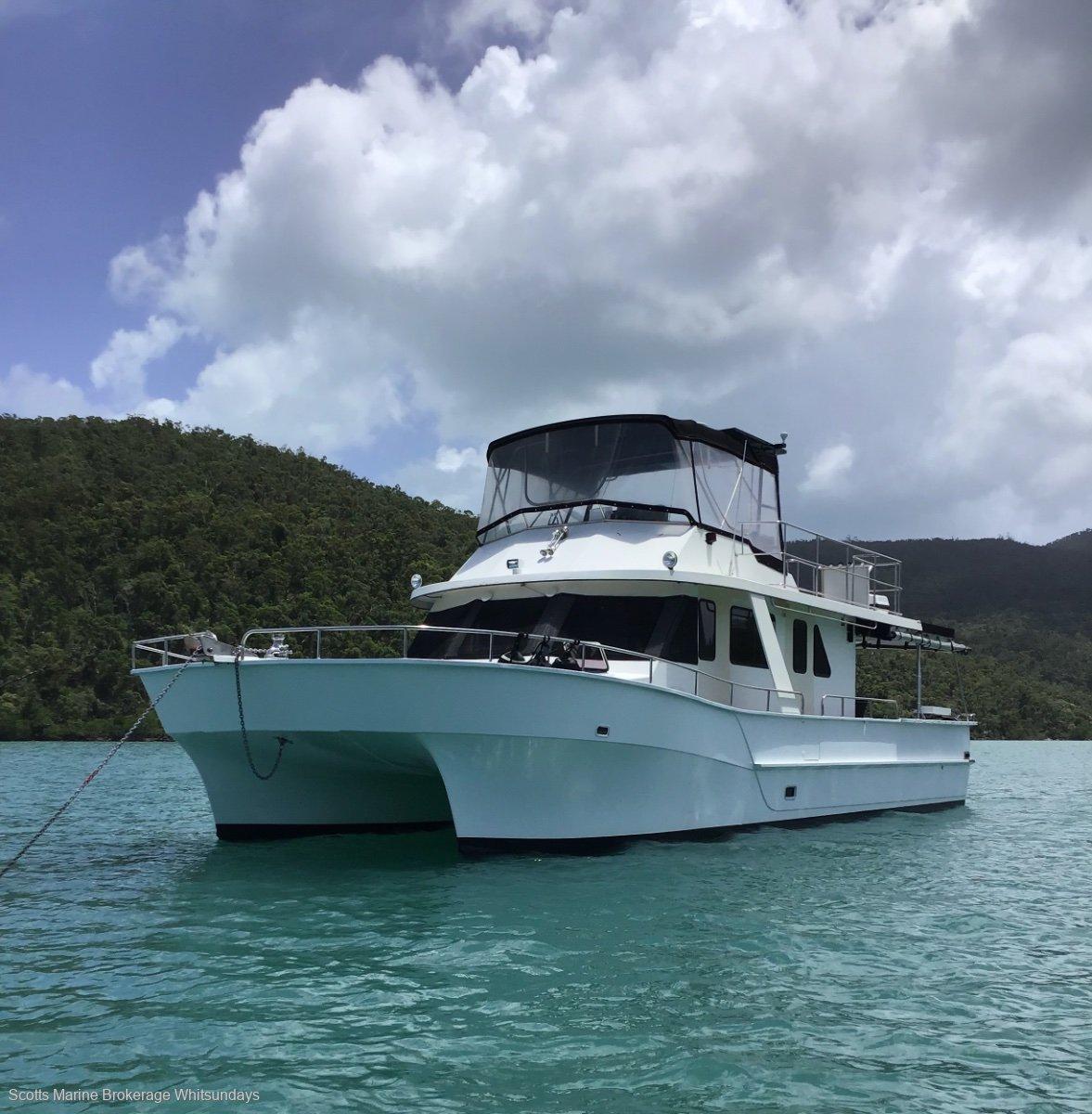 Nustar 50 flybridge power catamaran