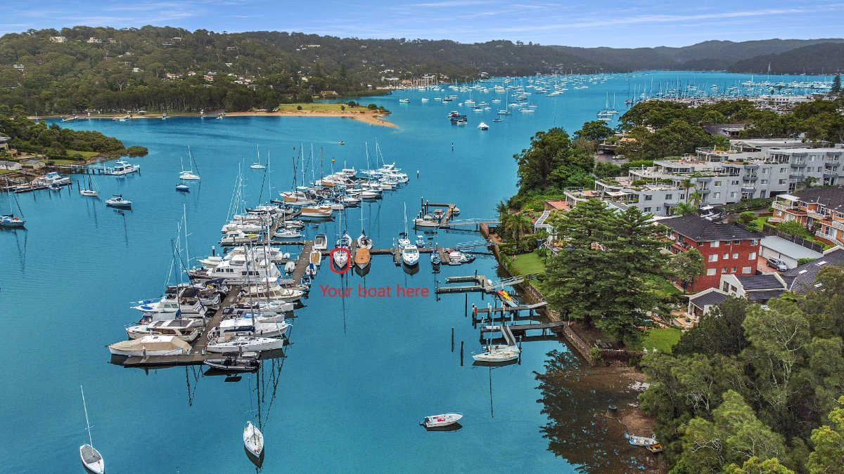 13m Marina Berth for lease - A well protected berth in Pittwater:very well protected location in Pittwater.