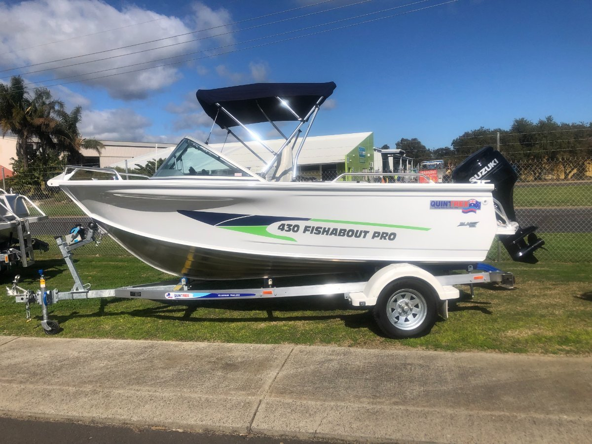 New Quintrex 430 Fishabout Pro