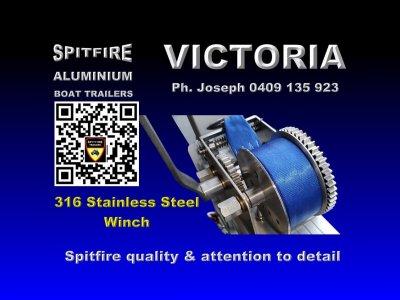 Spitfire 800-3.5 Ton Aluminium Boat trailer