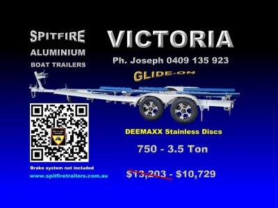 Spitfire 750-3.5 Ton Aluminium Boat Trailer