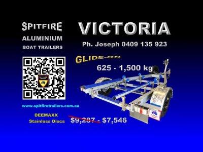 Spitfire 625-1500kg Aluminium Boat Trailer