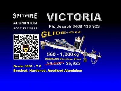 Spitfire 560-1200 kg Aluminium Boat Trailer