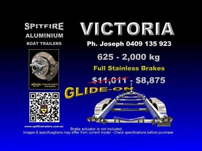 Spitfire 625-2,000 kg Aluminium Boat Trailer