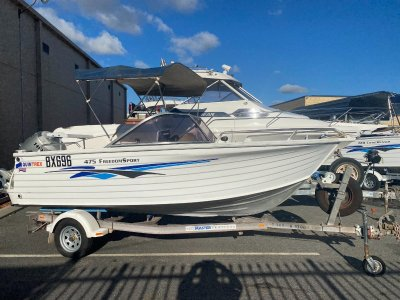 Quintrex 475 Freedom Sport BOW RIDER WITH OUTBOARD, GREAT ALL ROUNDER
