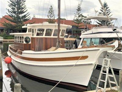 Custom Timber planked flooded gum hull