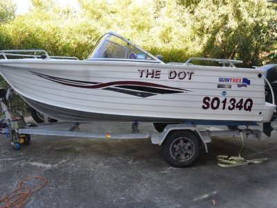 Quintrex 480 Freedom Sport BOWRIDER WITH A TRANSOM DOOR