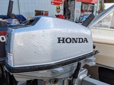 2ND HAND HONDA 5HP 4 STROKE OUTBOARD - SHORT SHAFT - $ 1,200.00