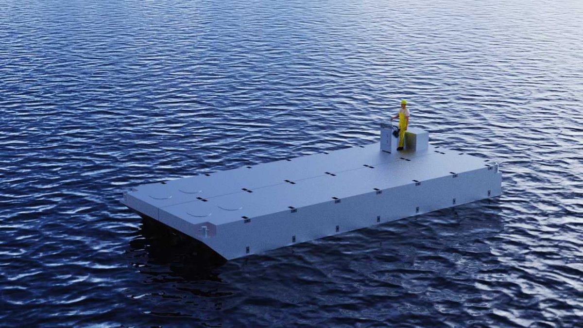 New Sabrecraft Marine Self Propelled Barge 12.00x5.00 Dumb Barge Work Barge