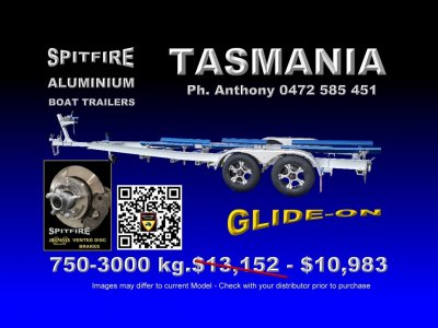 Spitfire 750-3 Ton Aluminium - 316 Strainless Steel Boat Trailer