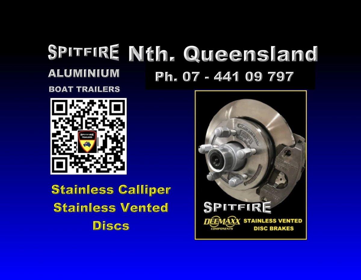 Spitfire 700-3 Ton Anodised Aluminium - 316 Strainless Steel Boat Trailer