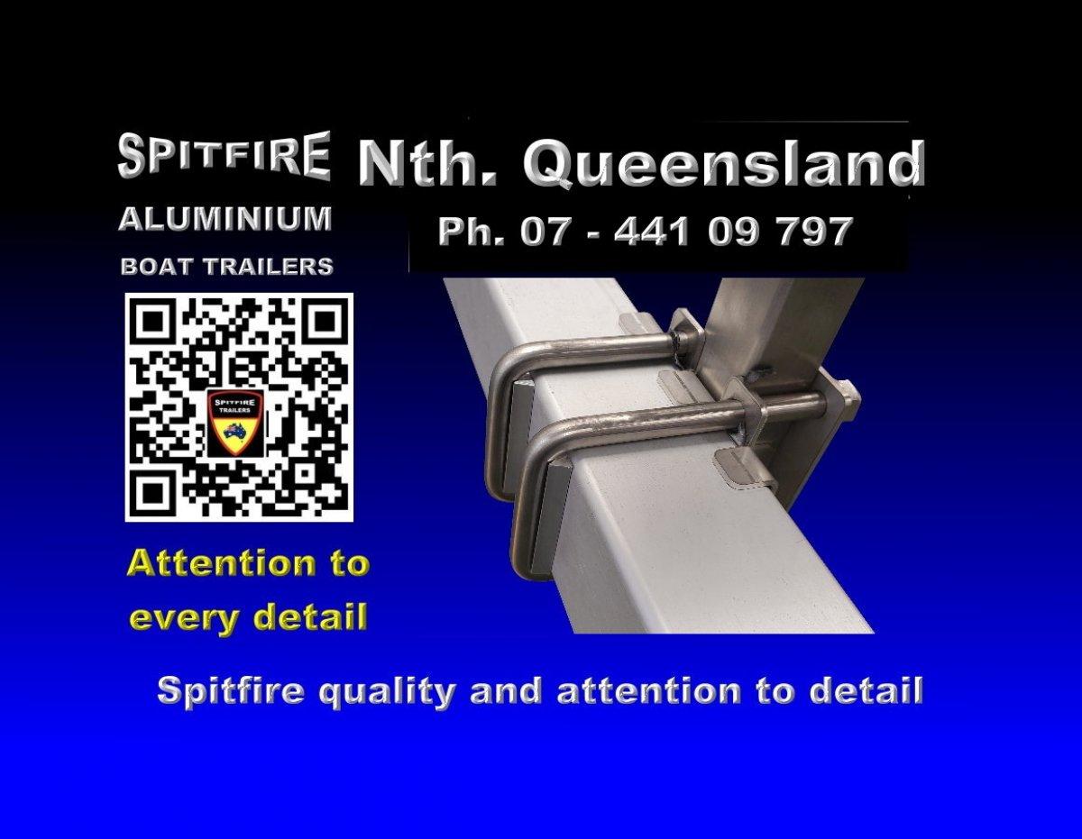 Spitfire 560-1200 kg Aluminium 316 Stainless Steel Boat Trailer
