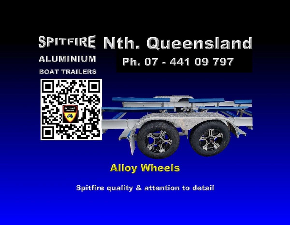 Spitfire 625-1500kg Aluminium 316 stainless Steel Boat Trailer