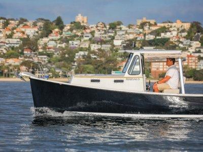 Atlas Boat Works Pompano 21 Single diesel shaft drive downeast lobster boat