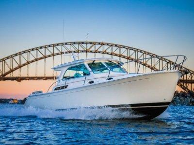 Back Cove 34O Maine, USA Built Downeast Style Outboard Cruiser