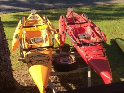 Hobie Mirage Adventure Island (Two boats on trailer)
