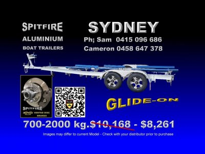 Spitfire 700-2,000 kg Anodised Aluminium - 316 Stainless Steel Boat Trailer