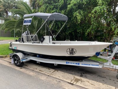 Spitfire 560-1200 kg Anodised Aluminium 316 Stainless Steel Boat Trailer