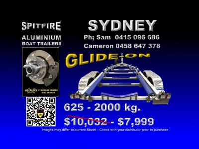 Spitfire 625-2,000 kg Anodised Aluminium- 316 Stainless Steel Boat Trailer