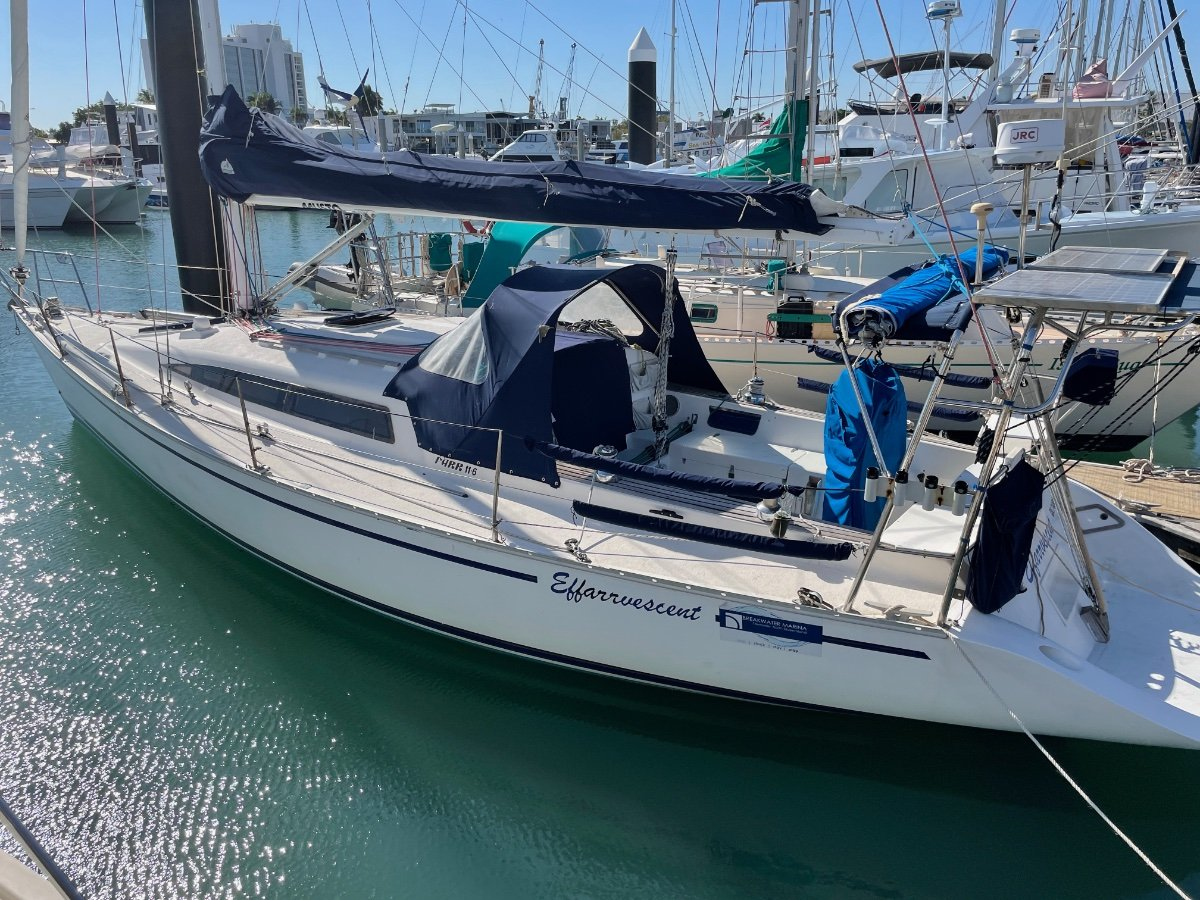 Farr 11.6 with modern rudder and sugarscoop