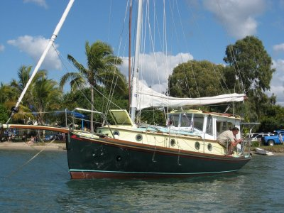 Couta Boat Classic Moulded fantail Motor sailer