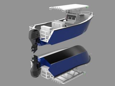 Sabrecraft Marine CC6600 Plate Ally Center Console
