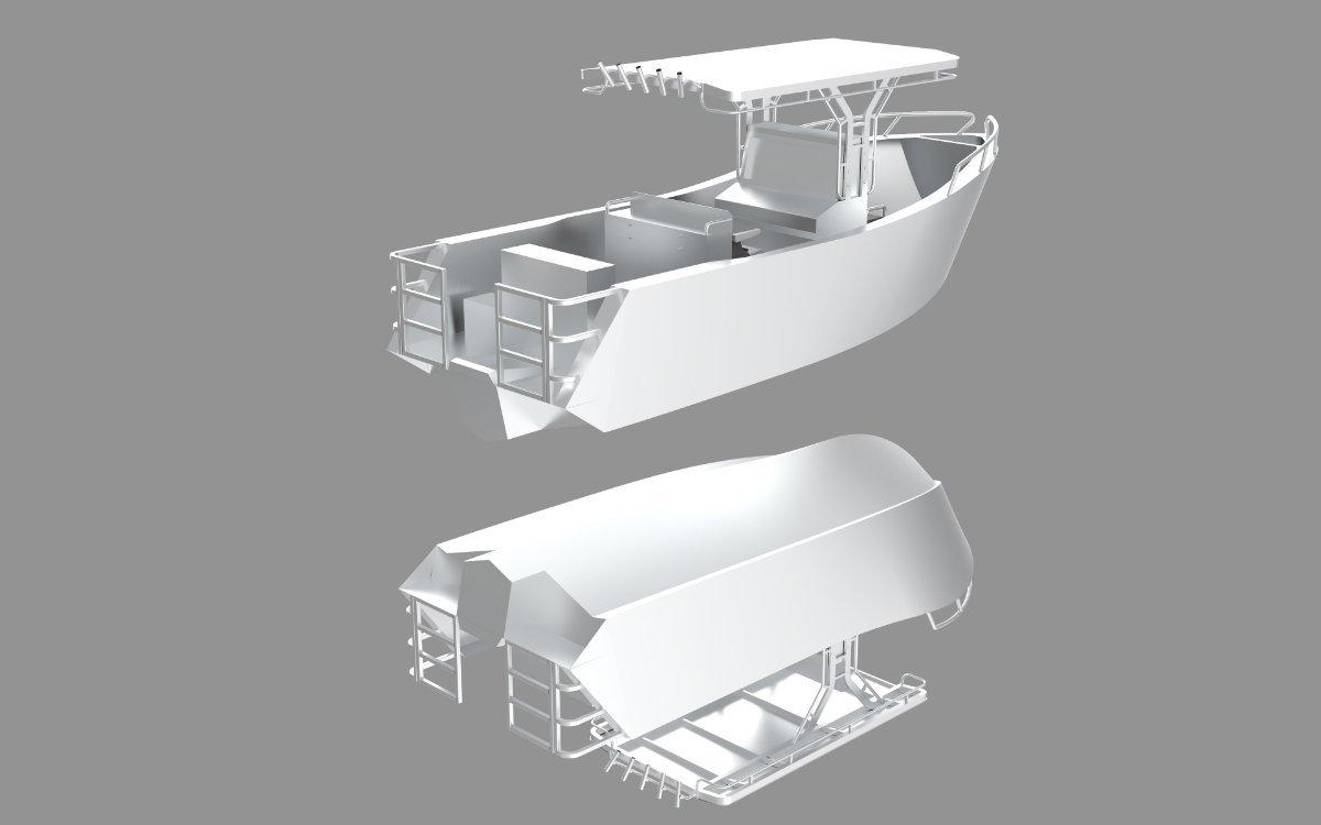 New Sabrecraft Marine CC6600 Plate Ally Center Console