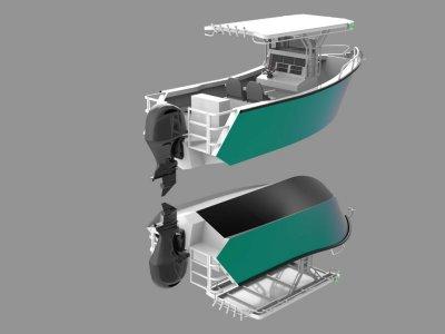 Bare Arse Boats MONO 5800 Centre Console