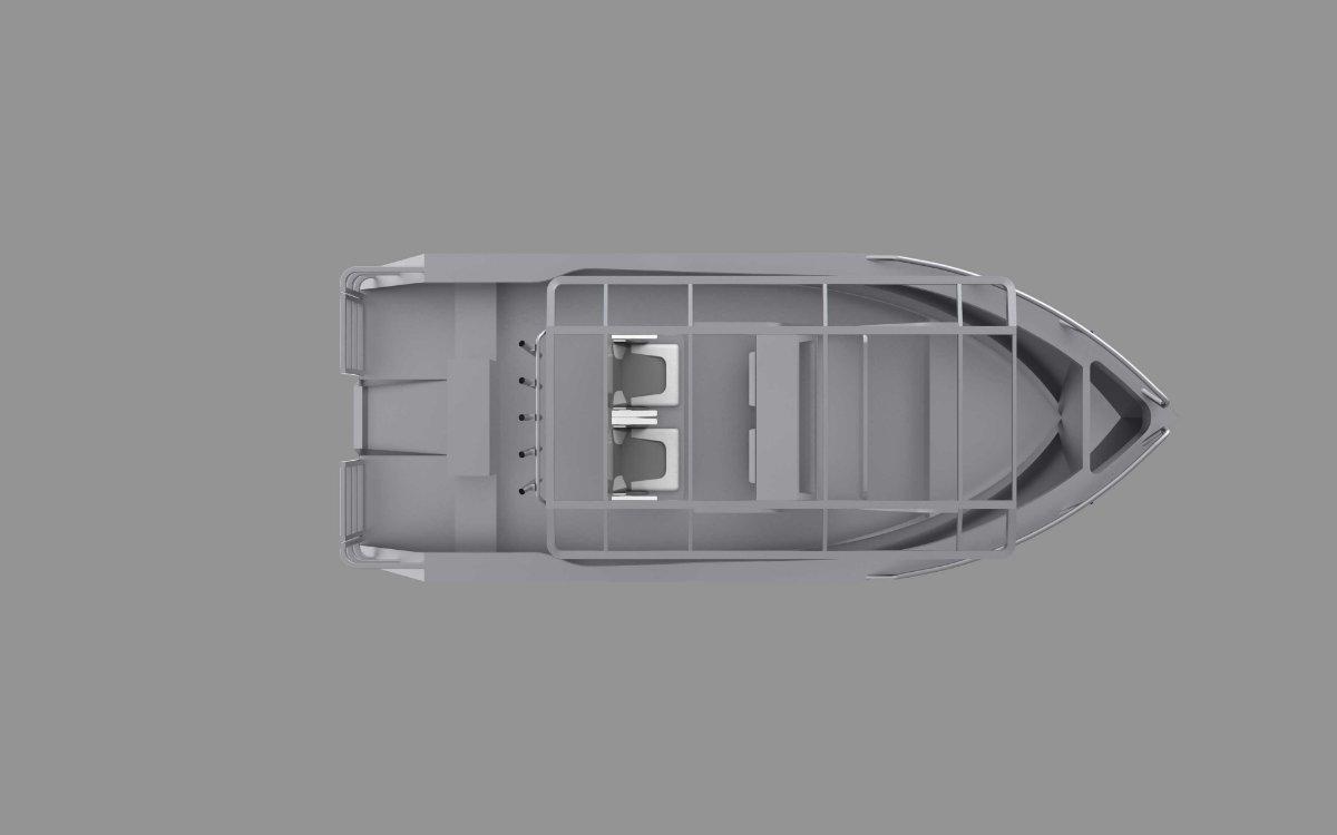 New Bare Arse Boats MONO 5800 Centre Console