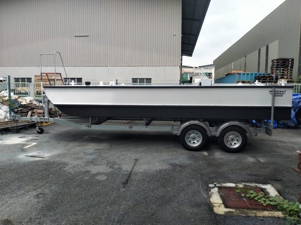 New Sabrecraft Marine WB5900 Ally Work Boat Punt